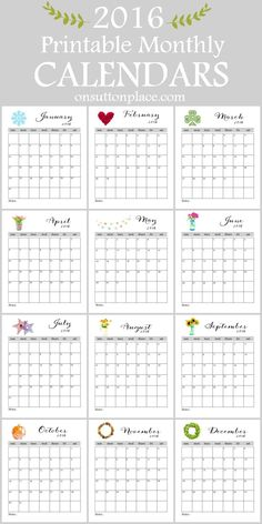 ... on Pinterest | Planners, Printable Calendars and Weekly Planner