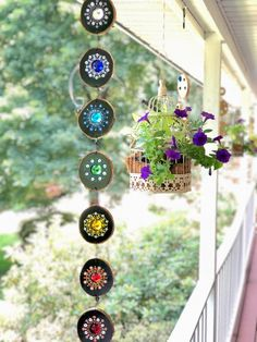 Hanging indoor/ outdoor decor,Dot mandala art, rainbow colors, yoga art, yoga room decor, meditative art, home garden decor
