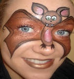 Face Painting for events and parties. Hire a professional face painter in Yorkshire and the North East. Also face painting courses. Face Painting Tips, Painting For Kids, Body Painting, Face Paintings, Bat Animal, Animal Faces, Child Face, Girl Face, Bat Face Paint