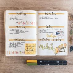 Easy Bullet Journal Ideas To Well Organize & Accelerate Your Ambitious Goals Bullet Journal Planner, Bullet Journal Notes, Bullet Journal School, Bullet Journal Spread, Bullet Journal Layout, Bullet Journal Inspiration, Book Journal, Journal Ideas, To Do Planner