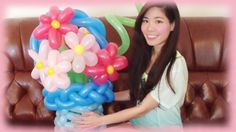 DIY Flower Balloon Art Tutorial - Gift idea for Mother's Day #balloon #twisting #bouquet #mom