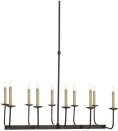 Visual Comfort SL5863BZ E. F. Chapman Linear Branched Chandelier in Bronze