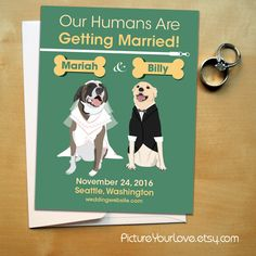 Pet Portrait Wedding Save The Date Magnets From Pictureyourlove Etsy Great Way