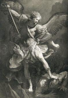 Giclee Print: Saint Michael by Reni Guido : Religious Tattoos, Religious Art, St Micheal Tattoo, Saint Michael Tattoo, Archangel Michael Tattoo, Angel Tattoo Designs, Biblical Art, Saint Michel, Angels And Demons