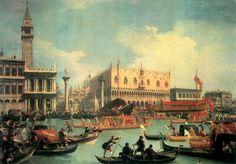 Canaletto (I): Der Bacino di San Marco mit dem Bucintoro