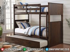 Wood Bunk Beds, Modern Bunk Beds, Bunk Bed With Trundle, Bunk Beds With Stairs, Full Bunk Beds, Kids Bunk Beds, Modern Bedding, Luxury Bedding, Twin Bedroom Sets