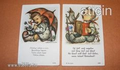 Berta Hummel szentképek a 30-s évekből! Original Rare Print! Fleißbildchen. Ars sacra Nr. 3888-3889