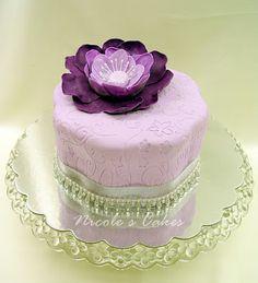 Precious Purple Flower Cake!