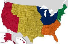 Regions of the US with the same population as the UK