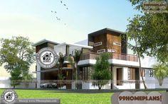 Indian Latest Home Design 2 Storey House Design With Terrace Plans 2 Storey House Design, House Front Design, Small House Design, Beautiful House Images, Beautiful House Plans, Home Design Images, House Design Pictures, Indian Home Design, Kerala House Design