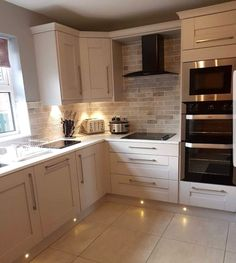 Remodeling Kitchen Lighting That corner cupboard, that's what I have in mind for above the new sink Home Decor Kitchen, Kitchen Interior, Home Kitchens, Luxury Kitchens, Open Plan Kitchen, New Kitchen, Kitchen Corner Cupboard, White Kitchen Floor, Cuisines Design