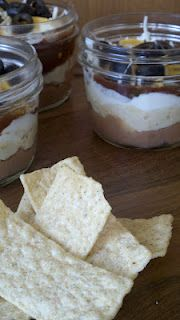 Layered Dip in 1/2 pt. wide-mouth Ball Jars - all from Target!