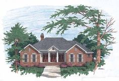 Eplans Colonial House Plan - Dramatic Entrance - 1730 Square Feet and 3 Bedrooms from Eplans - House Plan Code HWEPL06681