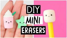 DIY MINI ERASERS - Back To School Supplies 2017!