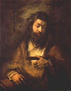 The Apostle Simon - Rembrandt - Completion Date: 1661