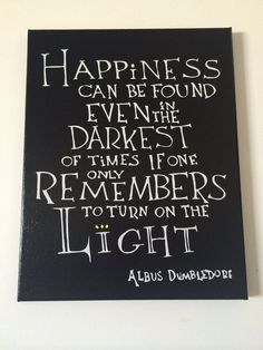 11X14 Albus Dumbledore Harry Potter Quote on by TwoGirlsFromTexas
