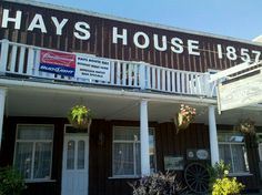 Hays House in Council Grove is the oldest bar in Kansas. Established 1857.
