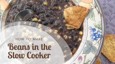 How to Make Beans in the Slow Cooker or Pressure Cooker such as an Instant Pot – Gesundes Abendessen, Vegetarische Rezepte, Vegane Desserts, Slow Cooking, Just Cooking, Healthy Slow Cooker, Slow Cooker Recipes, Crockpot Recipes, Sugar Free Recipes, Clean Eating Recipes, How To Make Beans, Healthy Dips
