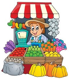 Cartoon Children With Fruits And Vegetables Stock Vector Illustratie 127522886 : Shutterstock Animal Crafts For Kids, Art For Kids, Farm Cartoon, Certificate Background, Community Places, Vegetable Cartoon, Fruits Images, Community Helpers, School Decorations