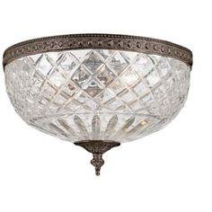 "Crystorama Majestic English Bronze 12"" Wide Ceiling Light $278"