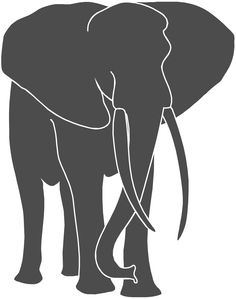 silhouette of elephants - Google Search