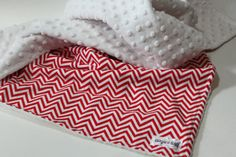 Baby Blanket, Red and White Chevron Baby Blanket with White Minky on Etsy, $38.00