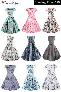 Vintage Dresses 50s, Vintage Dress Patterns, Vintage Inspired Dresses, Pretty Outfits, Pretty Dresses, Beautiful Dresses, Dresses For Teens, Casual Dresses, Fashion Dresses