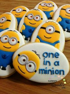 Minion cookies...pic only