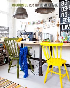 How To Create A Colourful & Rustic Home Office - Bright.Bazaar