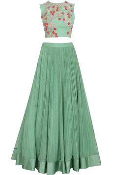 Sea-green lehenga set