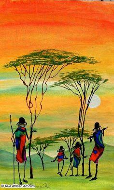 African art Arte Tribal, Tribal Art, Gravure Photo, Afrique Art, African Art Paintings, Contemporary African Art, African Theme, Afro Art, African American Art