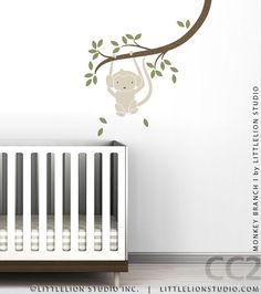 Monkey Branch I Wall Decal by LittleLion Studio by LeoLittleLion