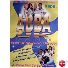 ABBA - ABBA UK Poster tribute band colourful promo poster. I have a dream