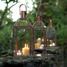 Copper & Glass Lanterns in Outdoor Living GARDEN DÉCOR Lighting at Terrain