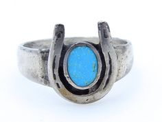 Mexico Vintage Genuine Turquoise Gemstone /&  Solid Sterling Silver Mexico Ring Size 6 Hallmarked 925 Weight 3.7