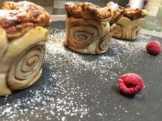 Zimtschnecken-Apfeltörtchen #waskochen Apple Pie, Pancakes, Pudding, Breakfast, Desserts, Butter, Food, Delicious Dishes, Dessert Ideas