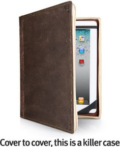 It's a hardback leather case for the I-Pad! Thanks to the husband I can take this off my wishlist.