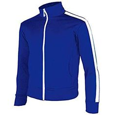 db6d822272 Amazon.com  myglory77mall Men s Running Jogging Track Suit Warm Up Jacket  Gym Training Wear L US(2XL Asian Tag) Blue  Clothing