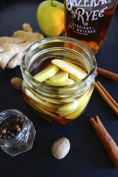 Recipes for liquers and infused spirits. I.e. Apple-Spiced Rye