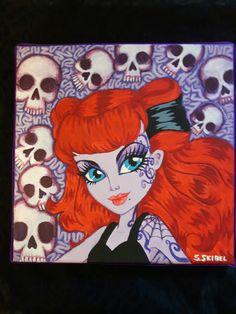 Opperetta fan art by Sara Seibel Monster High, Fan Art, Painting, Painting Art, Fanart, Paintings, Painted Canvas