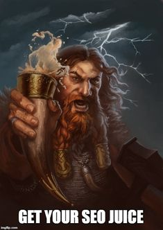 Thor while on a drinking rampage. It's a second painting in my Norse Gods series. Drink or Die! Viking Meme, Rune Viking, Viking Art, Fantasy Art Men, Fantasy Warrior, The Elder Scrolls, Character Portraits, Character Art, Character Ideas