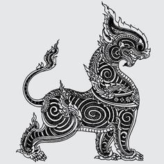 The Beauty of Japanese Embroidery - Embroidery Patterns Khmer Tattoo, Thai Tattoo, Thailand Tattoo, Thailand Art, Sak Yant Tattoo, Thai Design, Thai Pattern, Thai Art, Japanese Embroidery