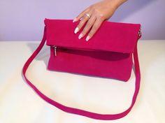 Kabelka - výprodej velur fuchsia Bags, Handbags, Bag, Totes, Hand Bags