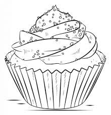 Výsledek obrázku pro cupcake kleurplaat