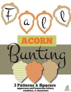 Create beautiful banners and bulletin board displays with our Thanksgiving acorn themed bunting!