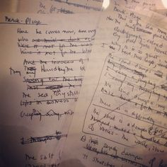 Draft of 'Berck-Plage' by Sylvia Plath