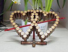 Bullet shell heart