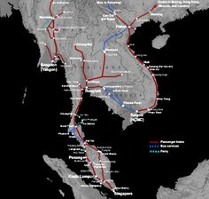 Thailand train route map