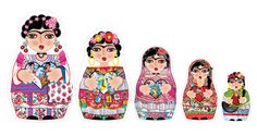 fridas imantadas Diego Rivera, Saints And Sinners, Wooden Figurines, Matryoshka Doll, Time Tattoos, Arte Popular, Art Lessons, Creations, Illustration Art
