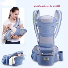 Ergonomic Baby Carrier Infant Baby Hipseat Carrier Front Facing Ergonomic Kan...